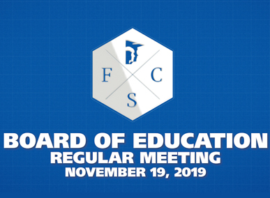 FCS BOE Regular Meeting November 19, 2019