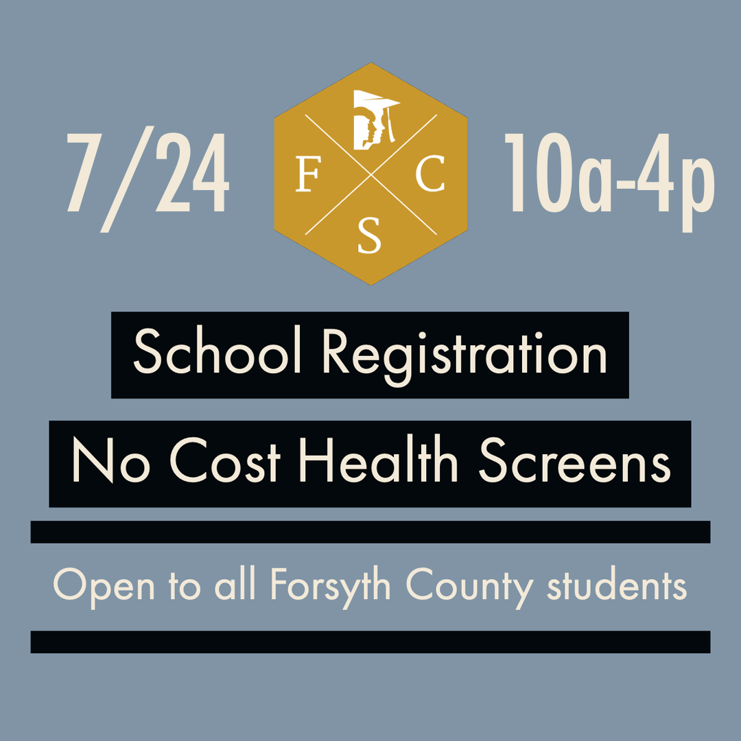 No Cost Health Screens for New FCS Students, July 24 10-4 pm