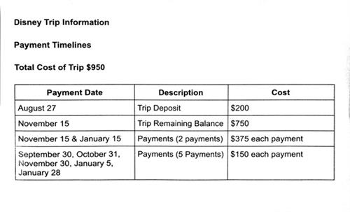 Payment Plan Information
