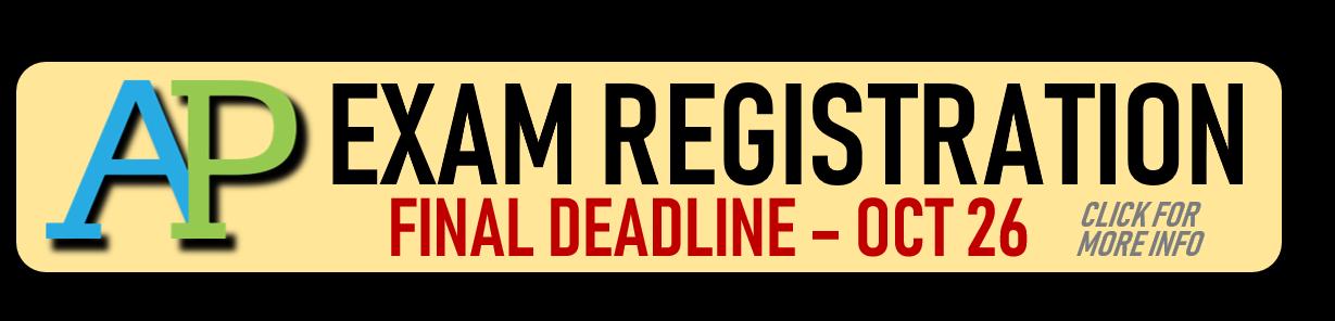 AP Exam Registration Info
