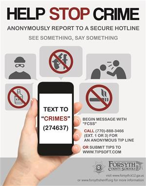Safety & Operations / Campus Crime Stoppers (See Something, Say