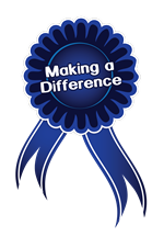 Making a Difference Blue Ribbon