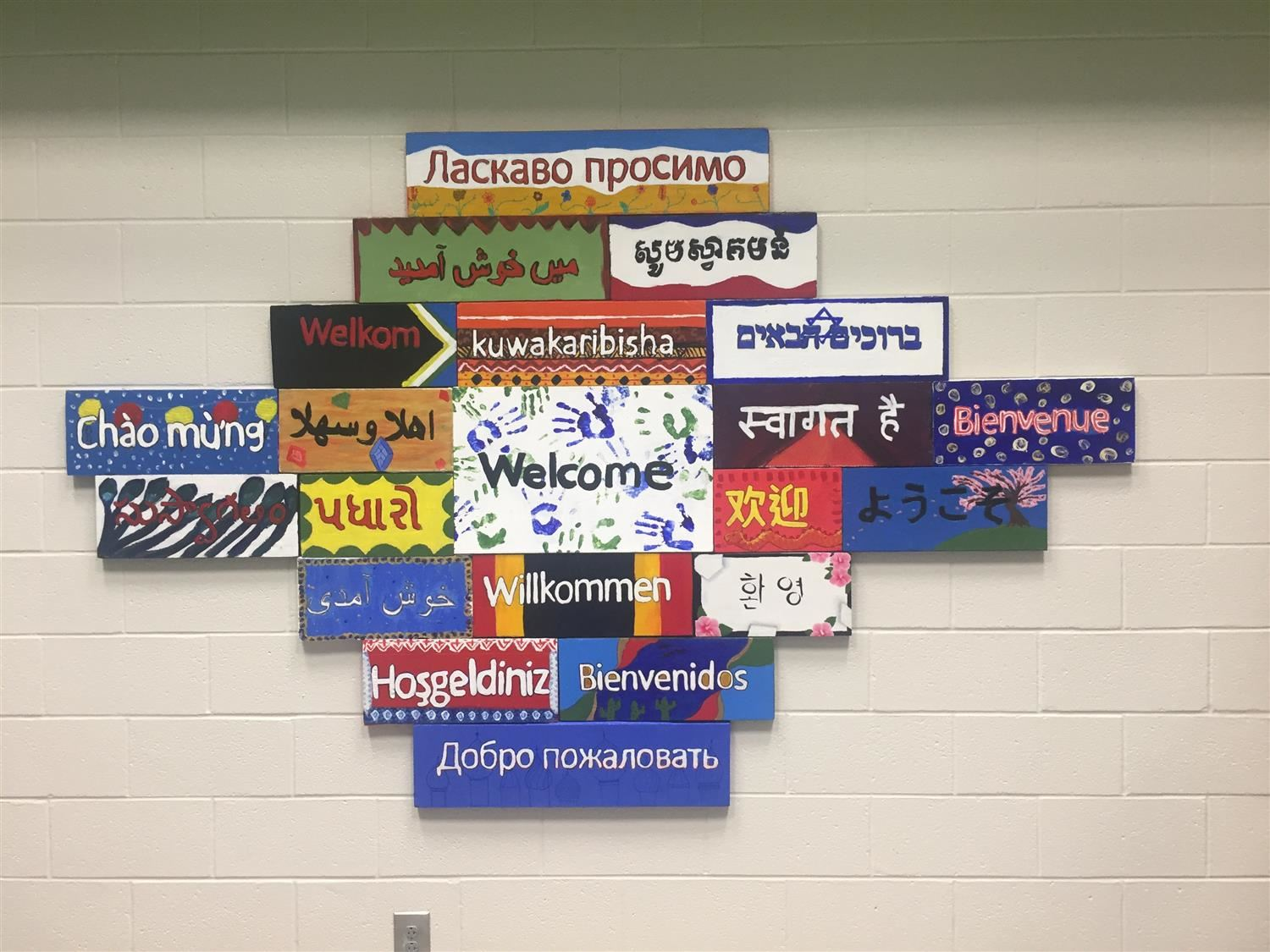 Welcome Sign Created by Art Club