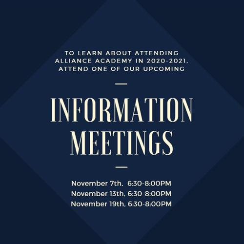 Upcoming Information Meetings