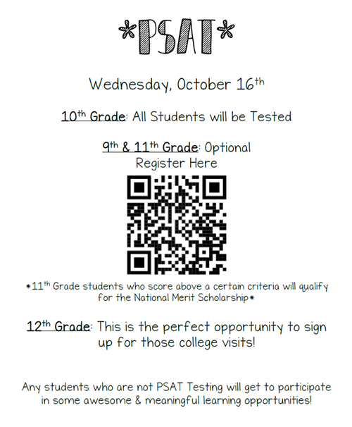 Counseling / PSAT/SAT/ACT Information