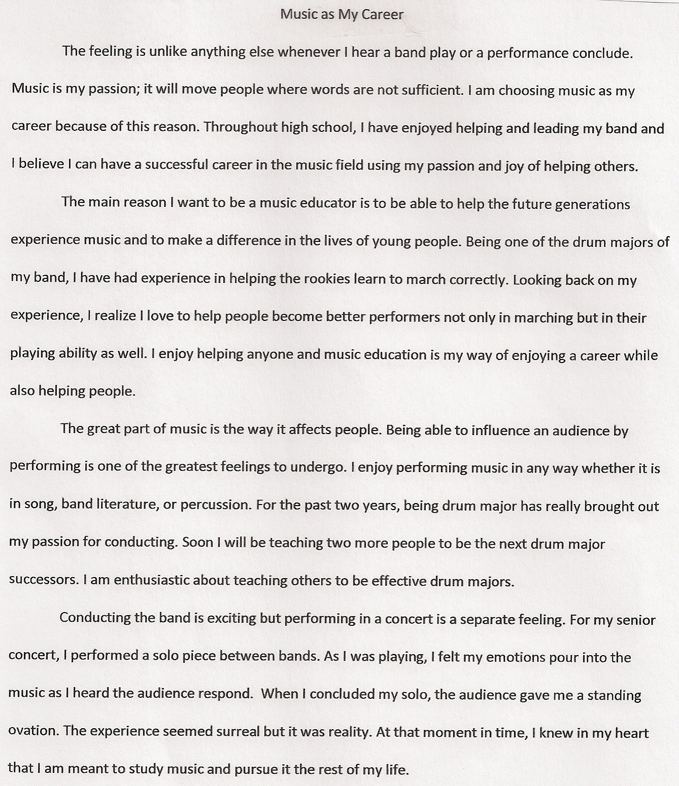 Resume essay
